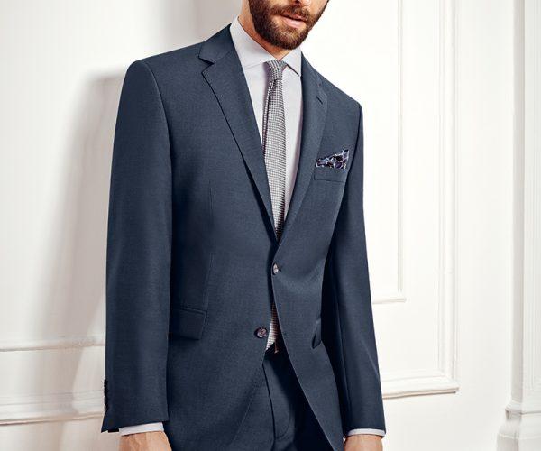 Slimfit Anzug Blau