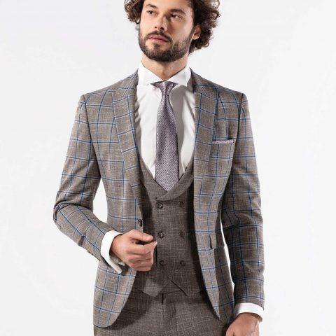 Broken Suit Fensterkaro Anzug Schurwolle